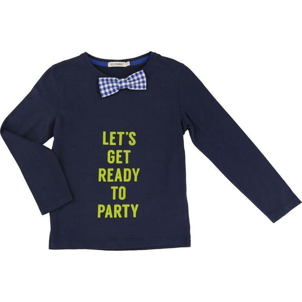 Navy Ceremonie LS T Shirt