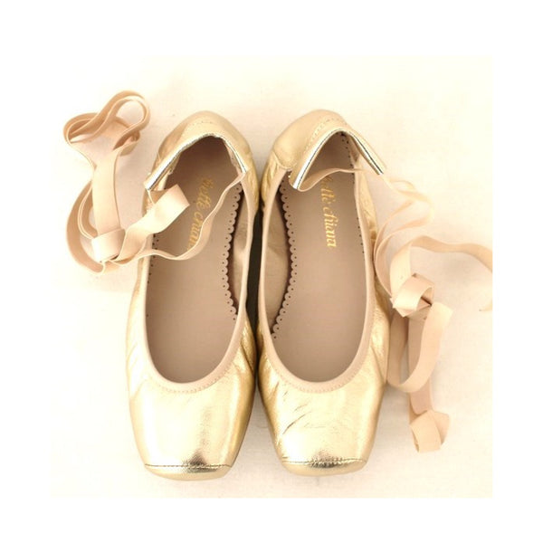 Audrey Puntas Metallic Soft Gold