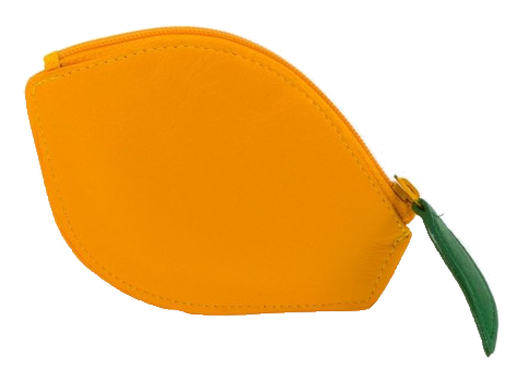 Lemon Leather Purse