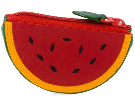Watermelon Leather Purse