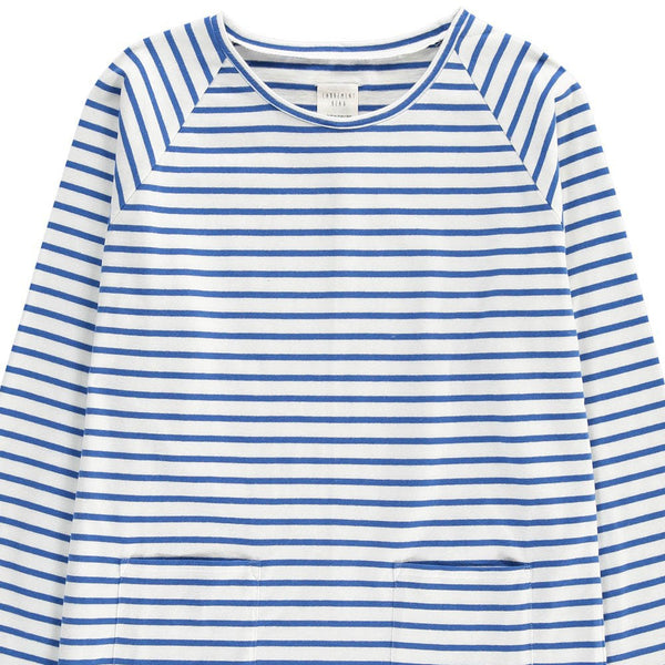 Blue Striped Long Sleeve T-Shirt