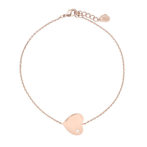 CZ Heart Bracelet - Rose Gold