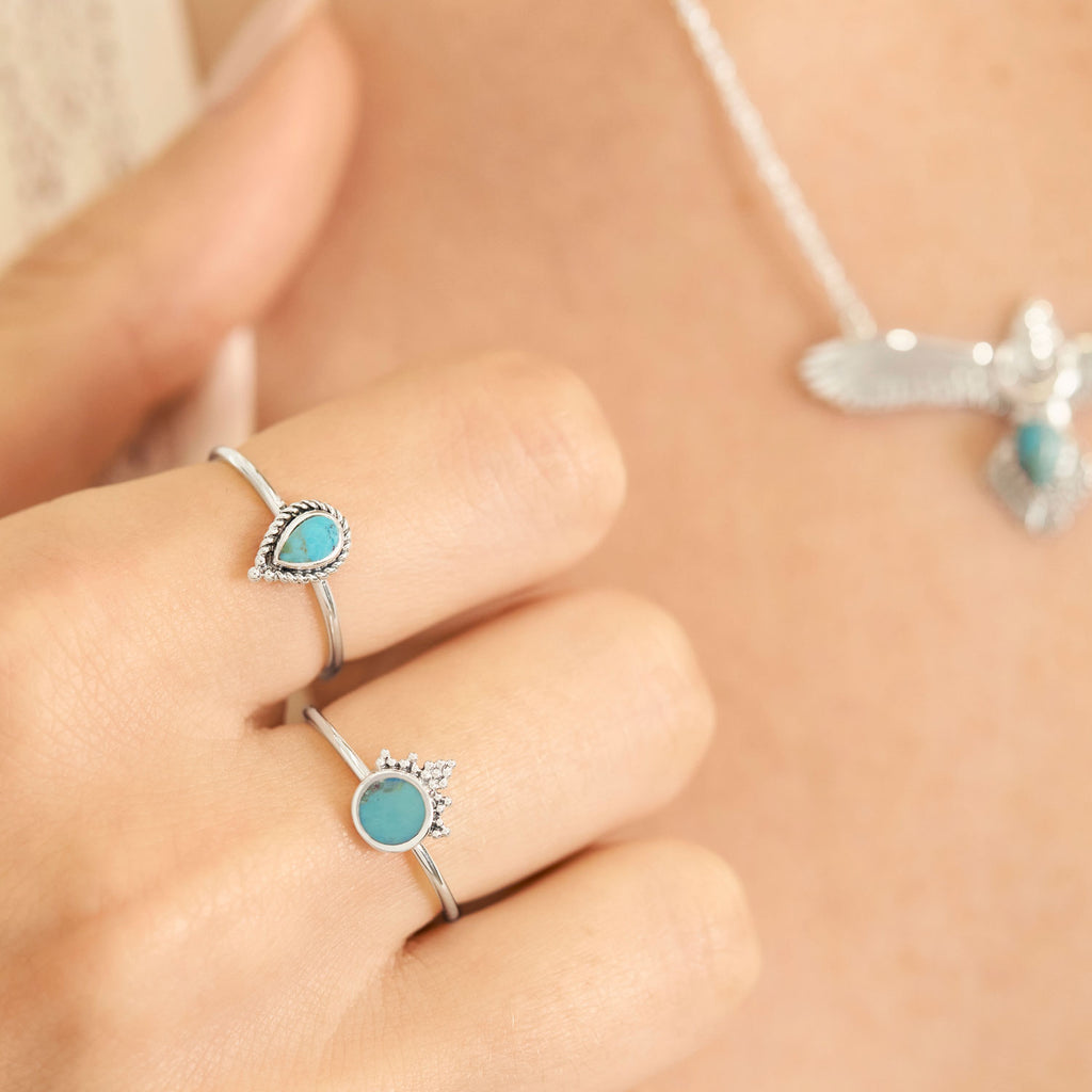 Midsummer Star Sterling Silver Turquoise Jewellery Rings and Necklaces