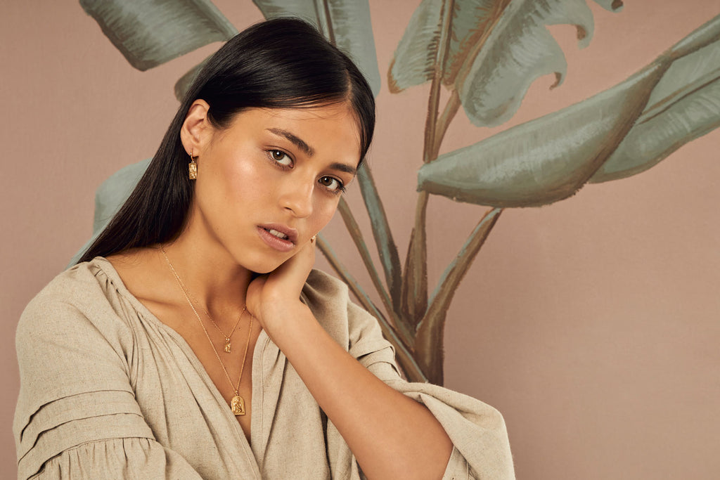 campaign image of the tahnee Leland x midsummer star collection