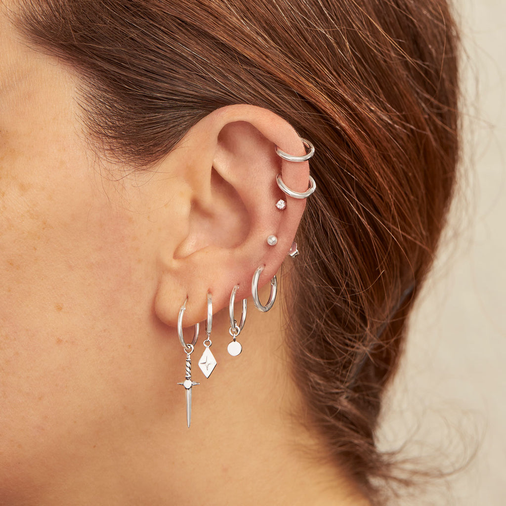 Midsummer Star Sterling Silver Sleepers and Hoops