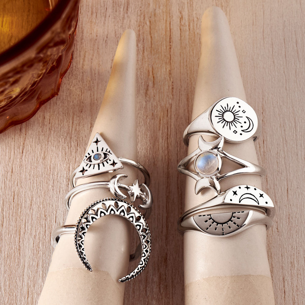 sterling silver astral rings