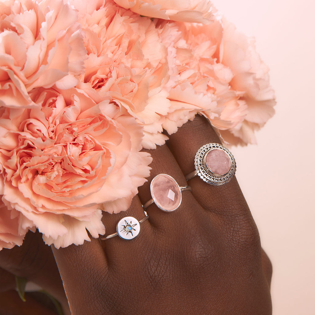 Midsummer Star Rose Quartz Jewellery