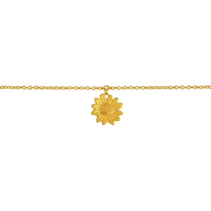 Gold Blossoming Sunflower Anklet