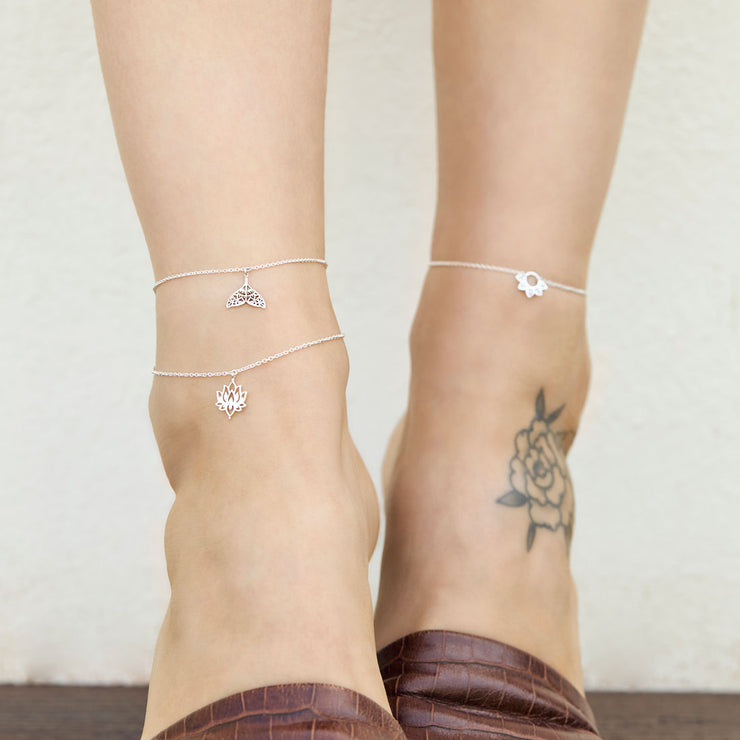 Mandala Dolphin Tail Anklet