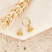 Gold Bee Pollination Ear Charms