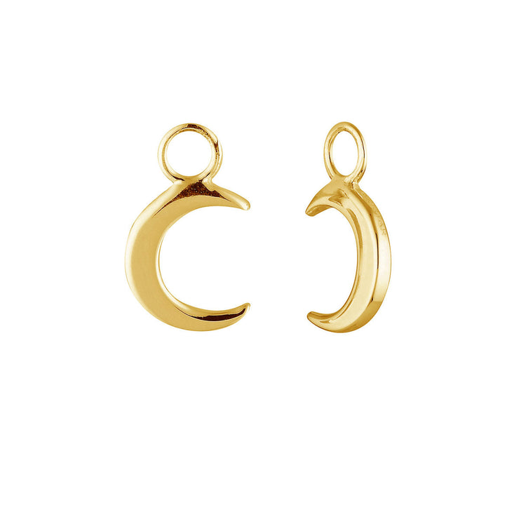 Gold Moon Crescent Ear Charms