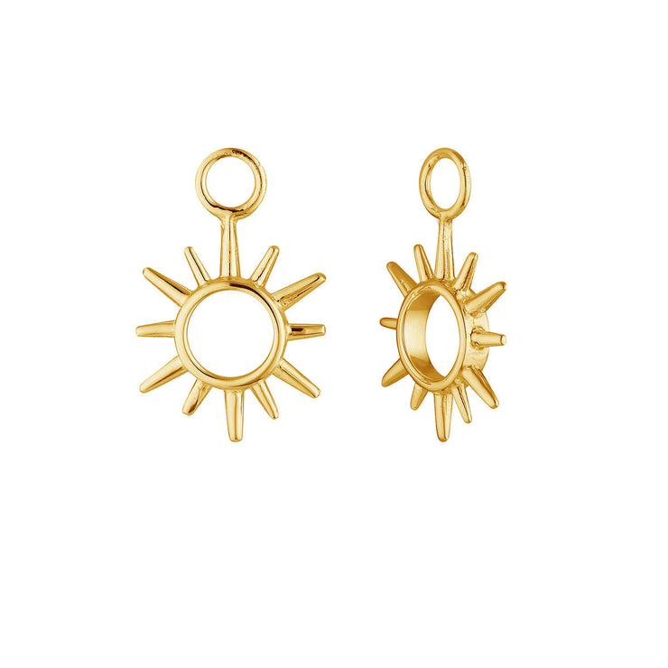 Gold Open Sunshine Ear Charms