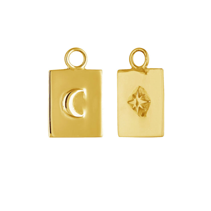 Gold Celestial Medallion Ear Charms