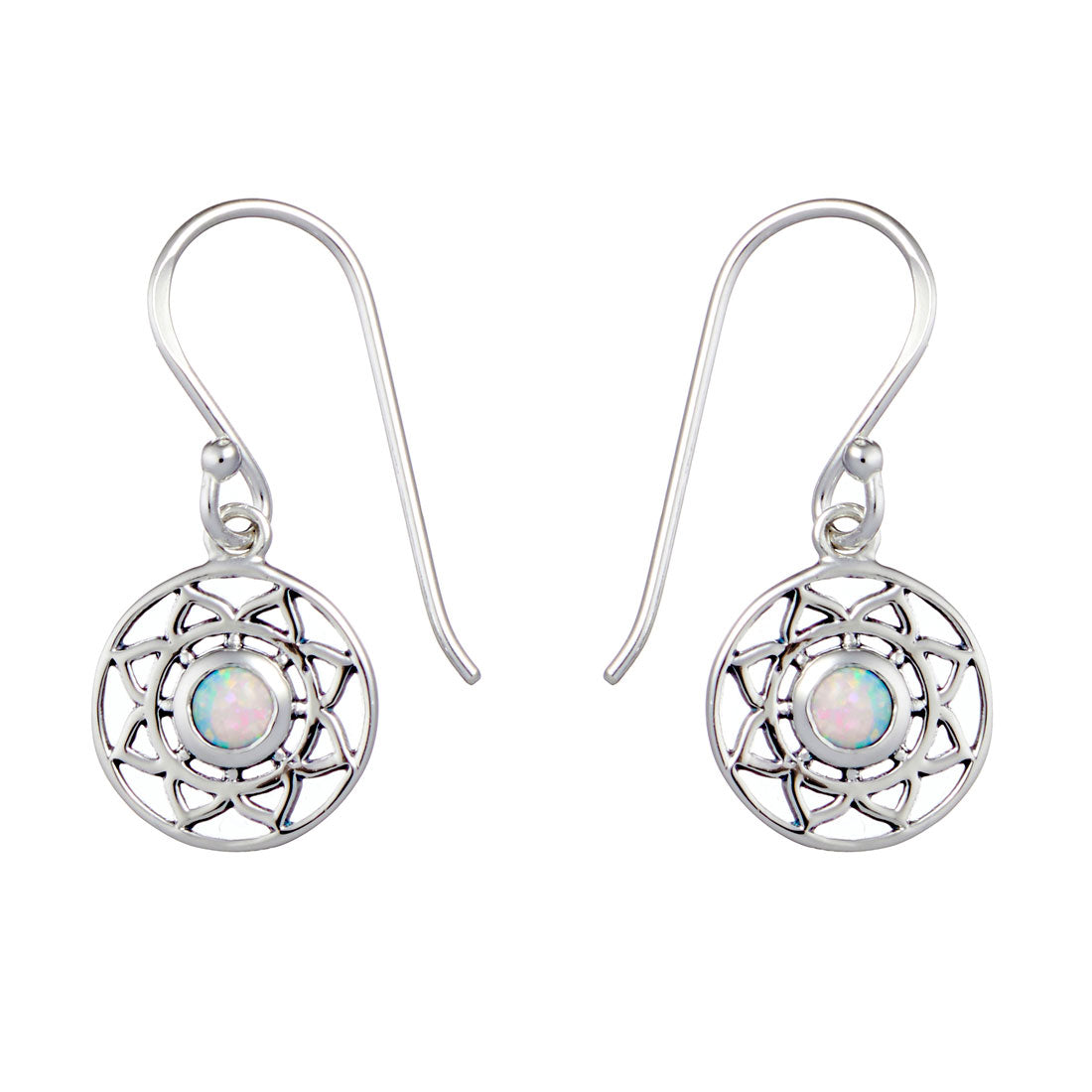 Flower Mantra Opal Earrings