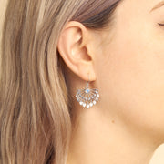 Lovers Chandelier Moonstone Earrings