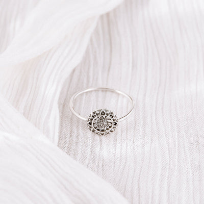 Sunflower Mantra Ring