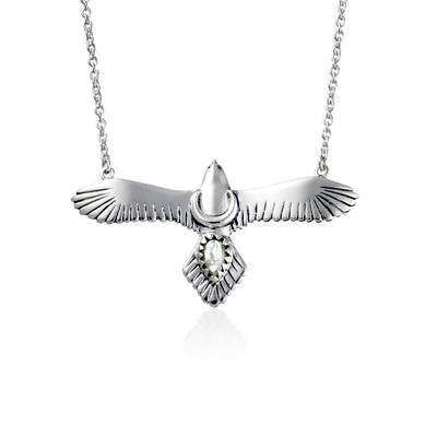 Moons Eagle Moonstone Necklace