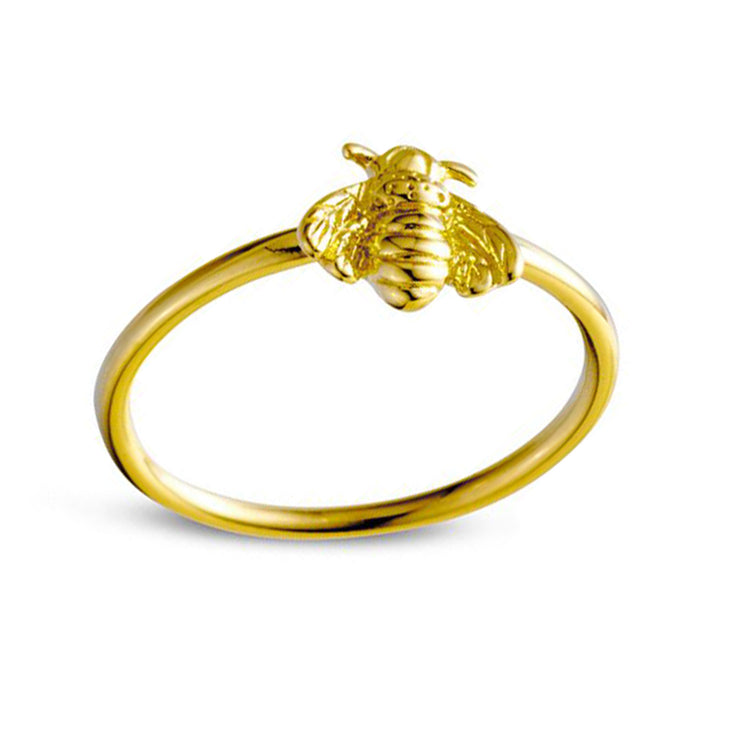 Gold Bee Pollination Ring