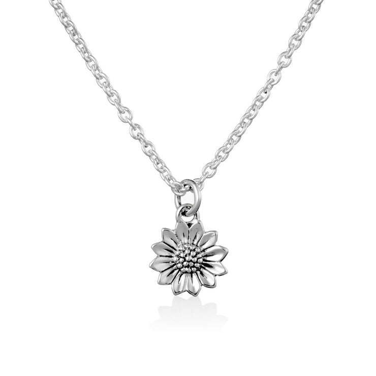 Delicate Sunflower Necklace