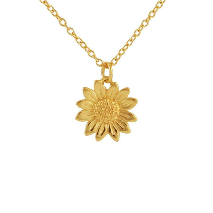 Gold Blossoming Sunflower Necklace