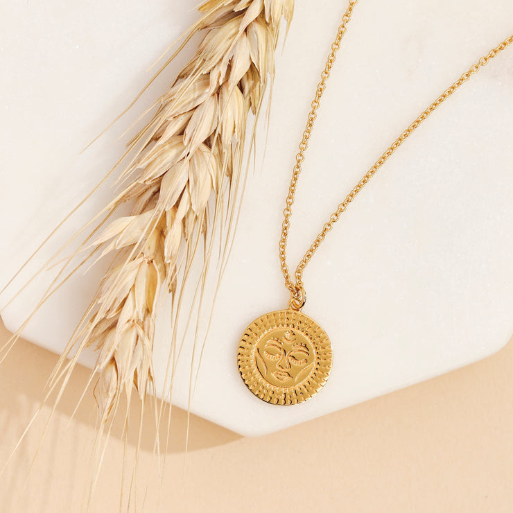 Gold Tantra Necklace