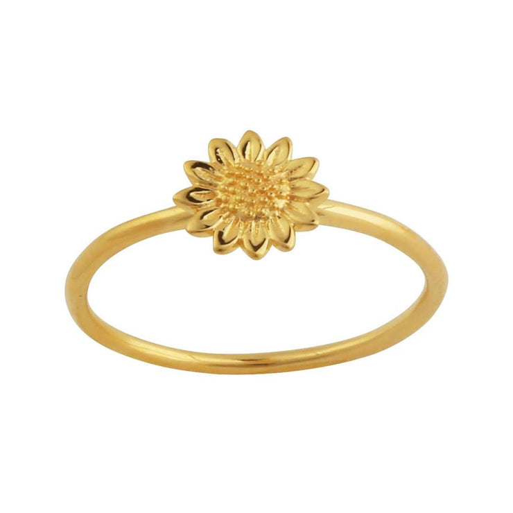 Gold Delicate Sunflower Ring