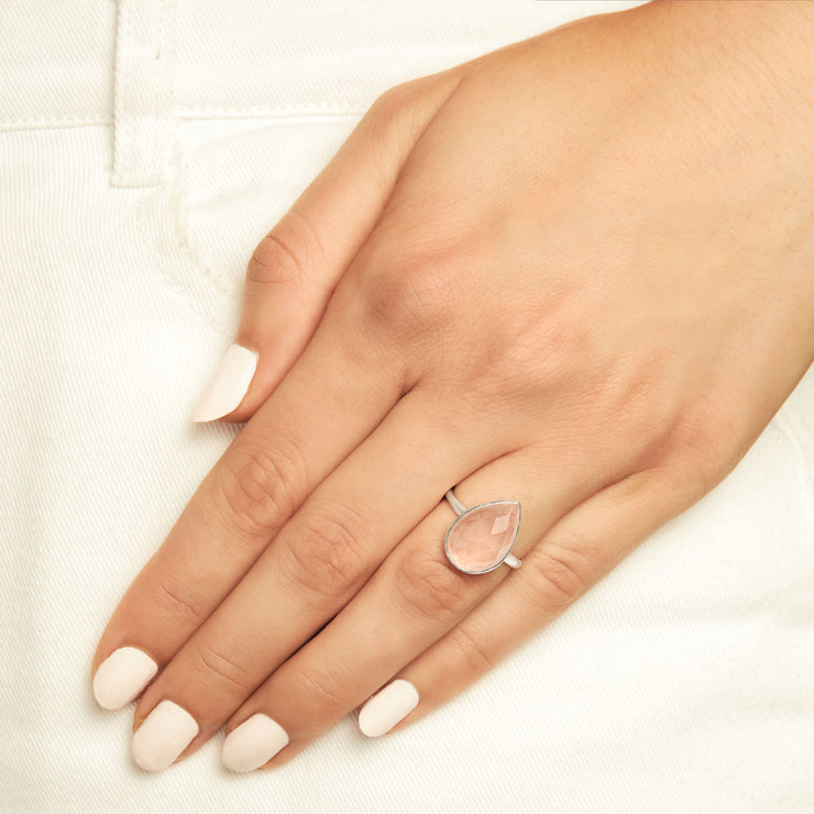 Freesia Rose Quartz Ring