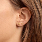 Delicate Sunflower Studs Gold