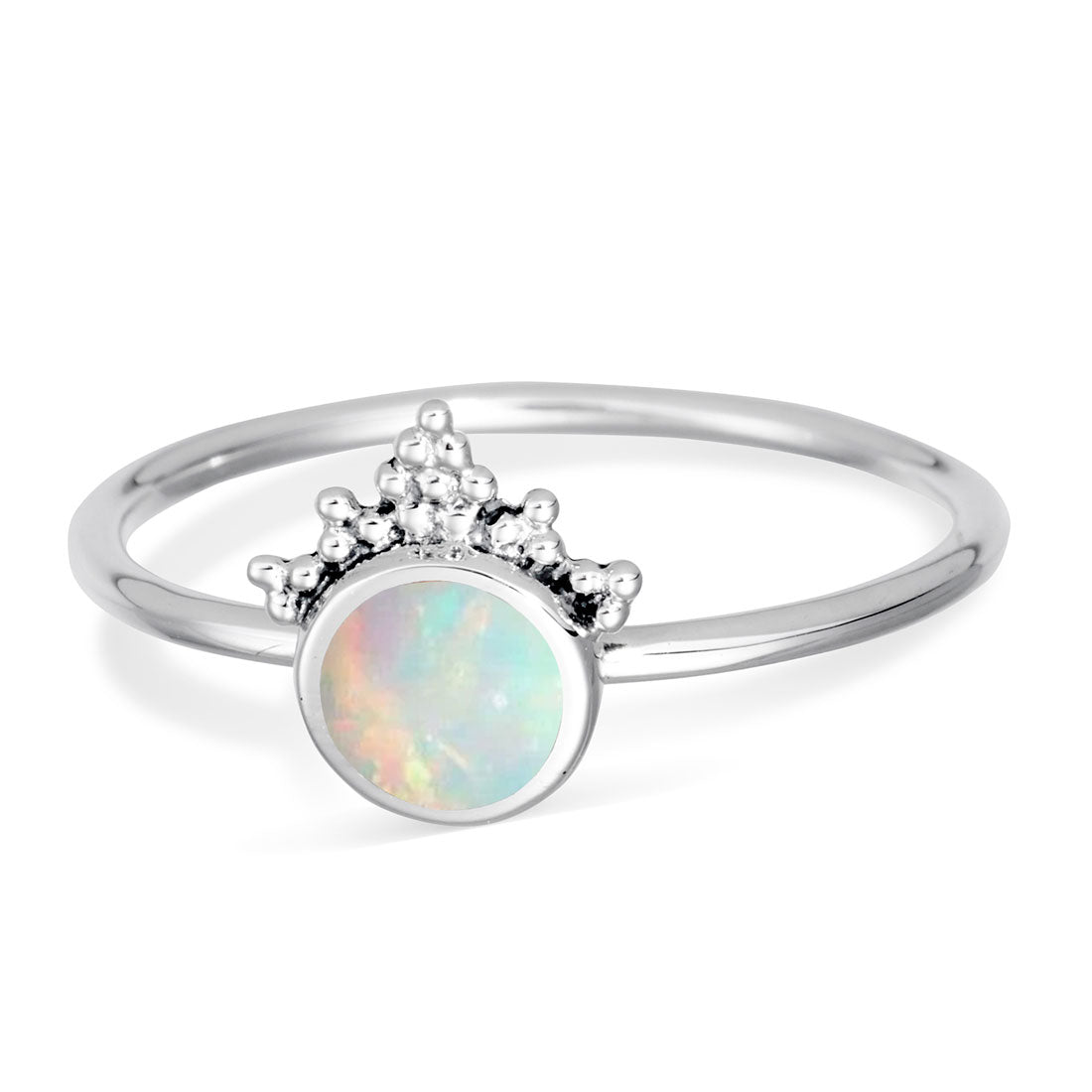 Mystic Mirror Opal Ring