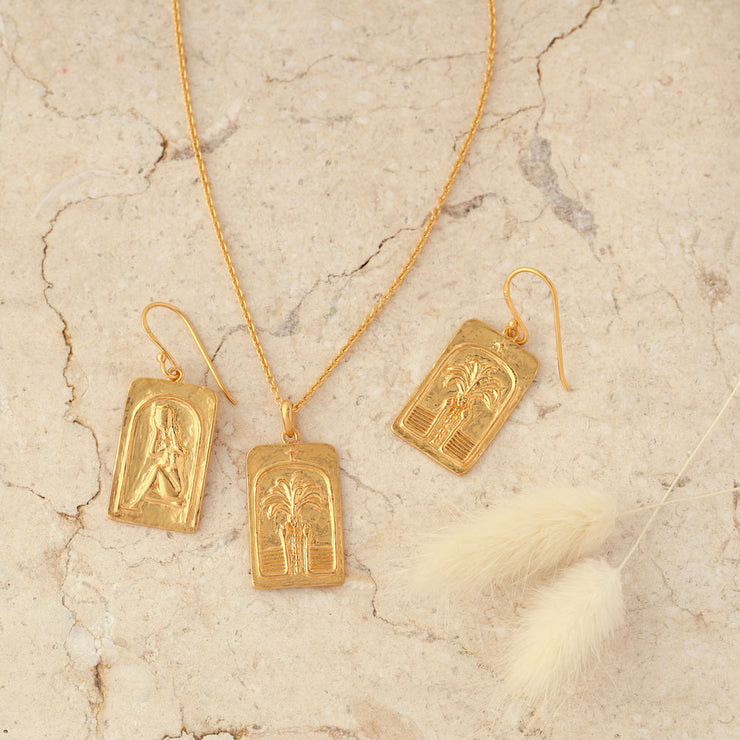 Gold Love Over Fear Earrings