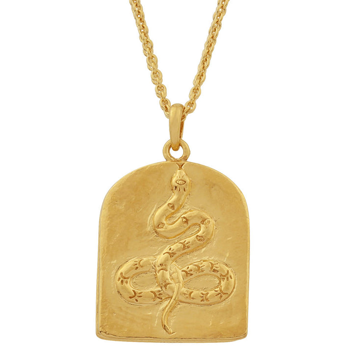 Gold Face Yourself Or Run Necklace