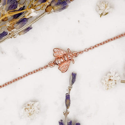 Midsummer Star Bracelets Rose Gold Pollination Bee Bracelet