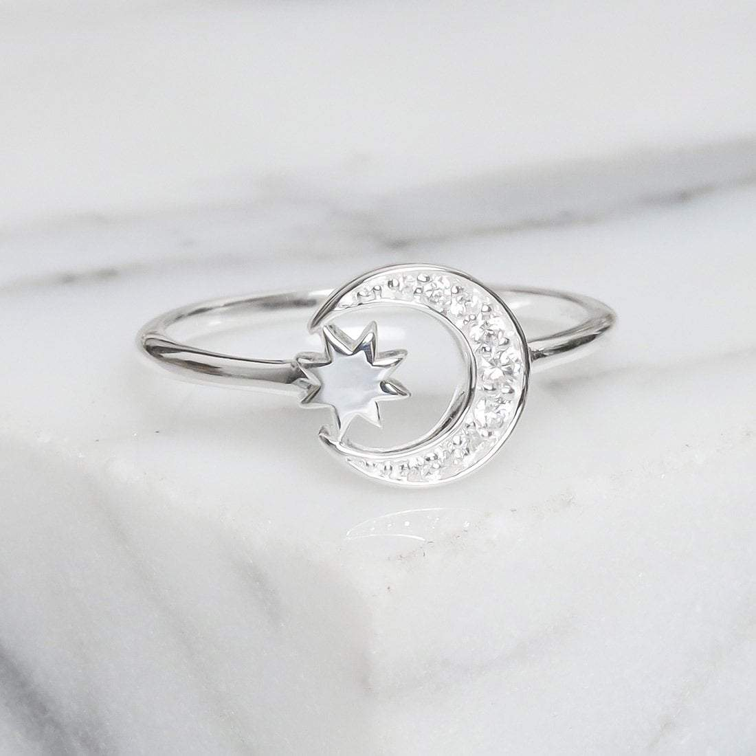 Midsummer Star Crystal Galaxy Disco Ring