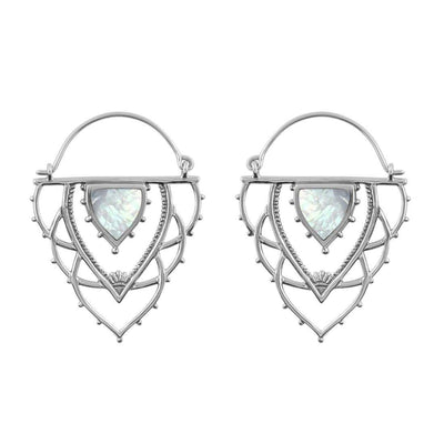 Midsummer Star Earrings Ancient Archways Pearl Hoops