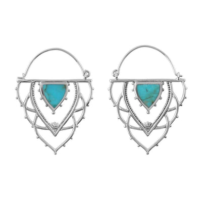 Midsummer Star Earrings Ancient Archways Turquoise Hoops