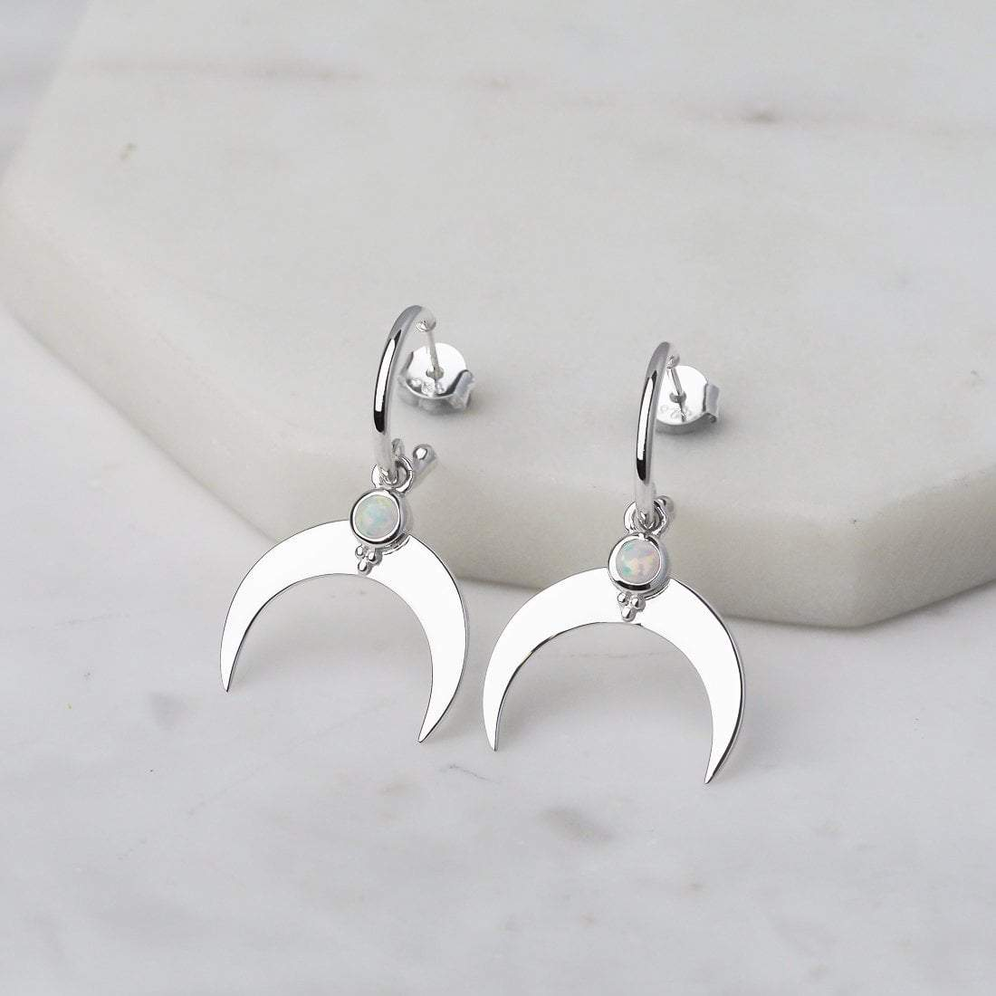 Midsummer Star Earrings Ascending Crescent Earrings