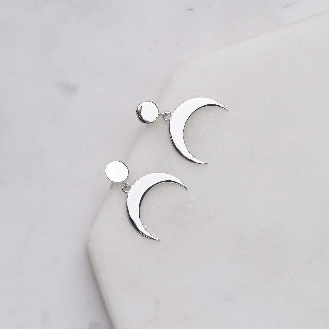 Midsummer Star Earrings Awakened Crescent Studs