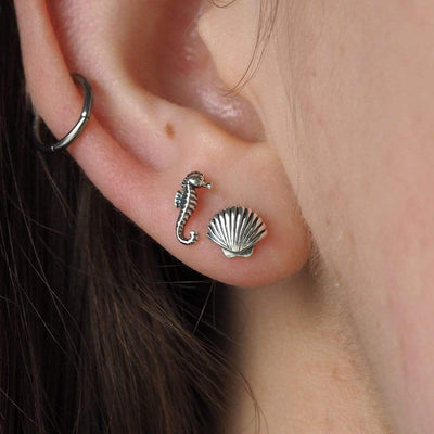Midsummer Star Earrings Baby Seahorse Studs