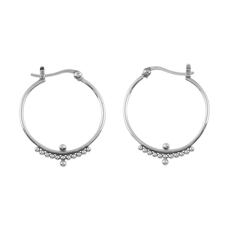 Midsummer Star Earrings Beaded Horizon Hoops