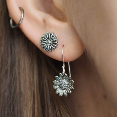 Midsummer Star Earrings Blossoming Sunflower Earrings