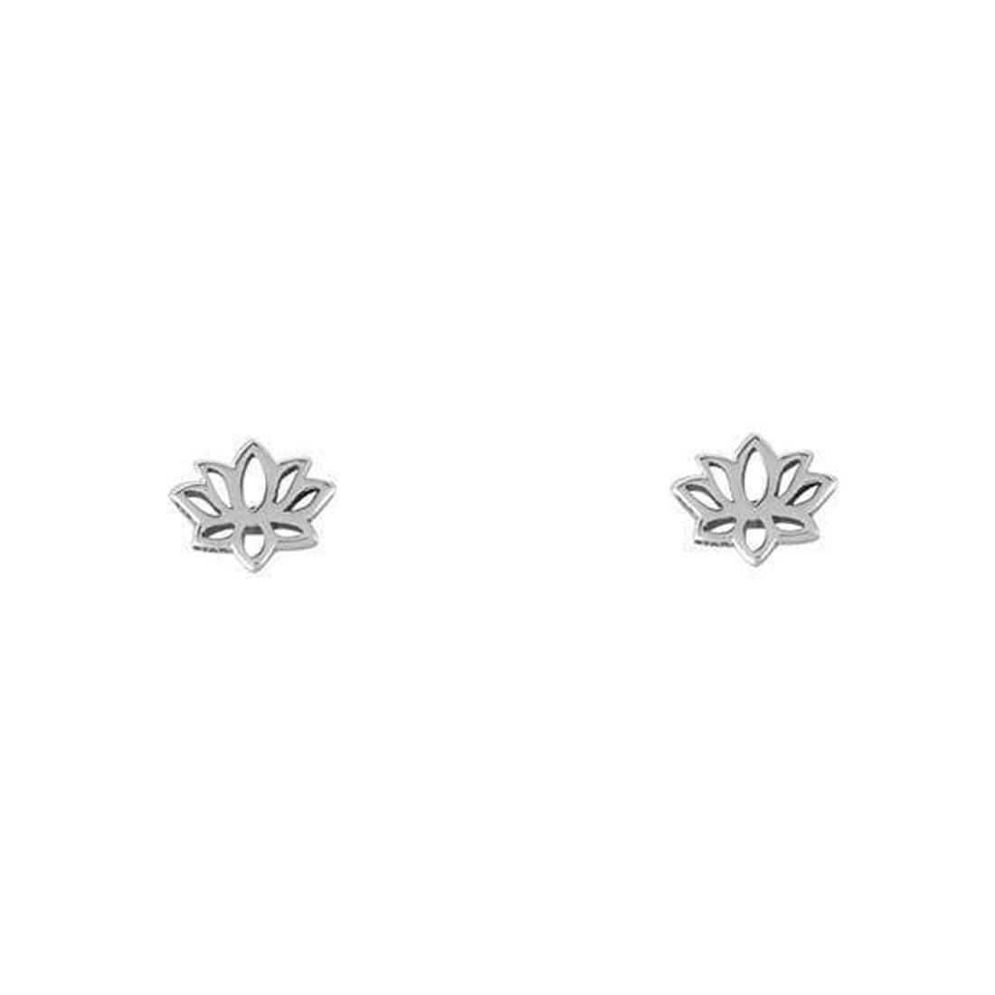 Midsummer Star Earrings Dainty Lotus Studs