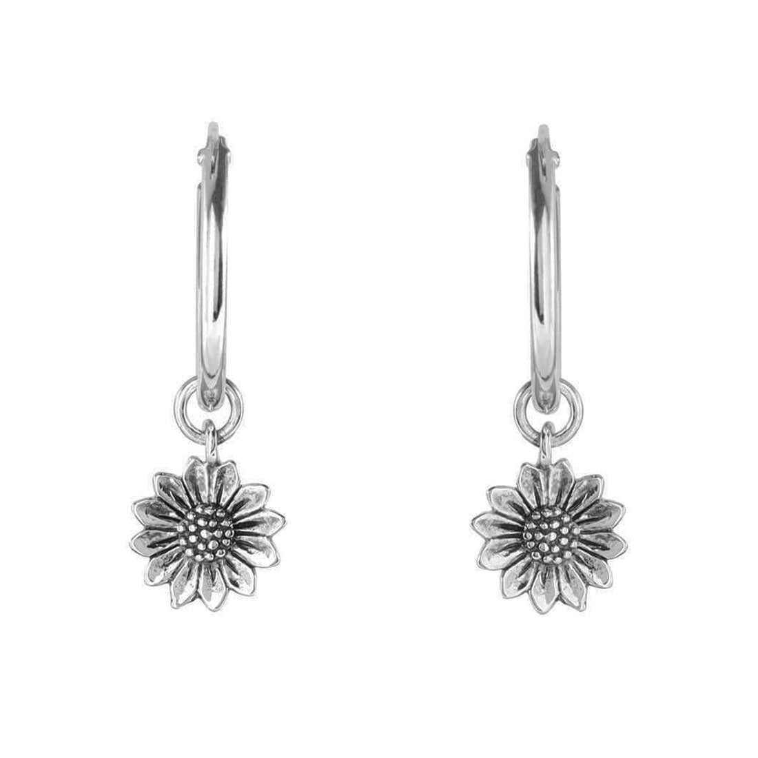 Midsummer Star Earrings Delicate Sunflower Sleepers