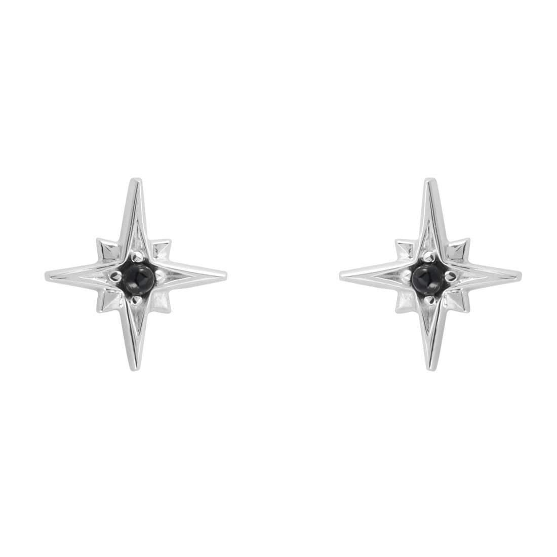 Midsummer Star Earrings Enchanted Light Onyx Studs