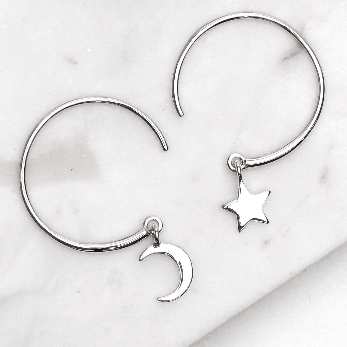 Midsummer Star Earrings Galaxy Hoops