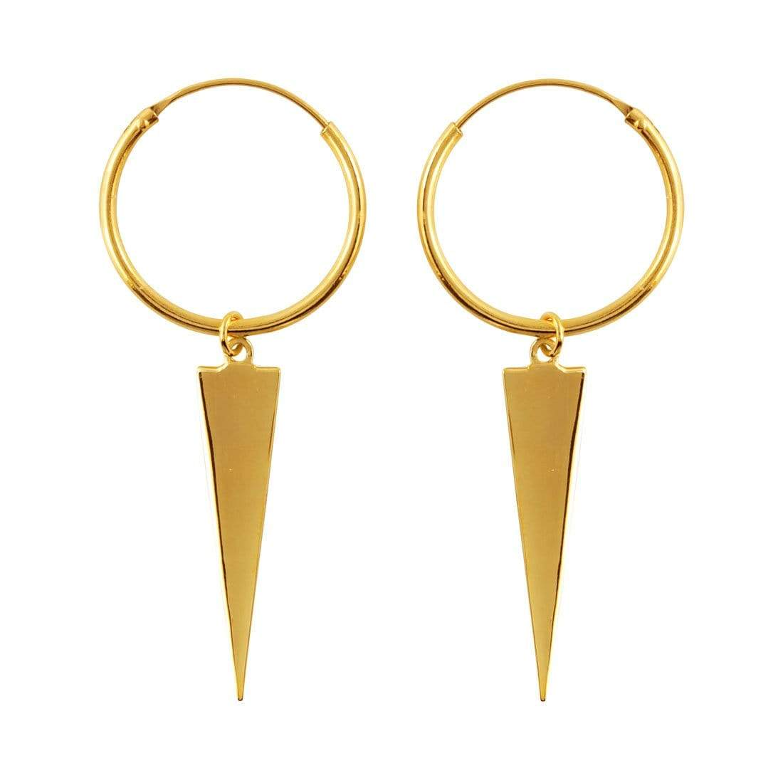 Midsummer Star Earrings Gold Apex Sleepers