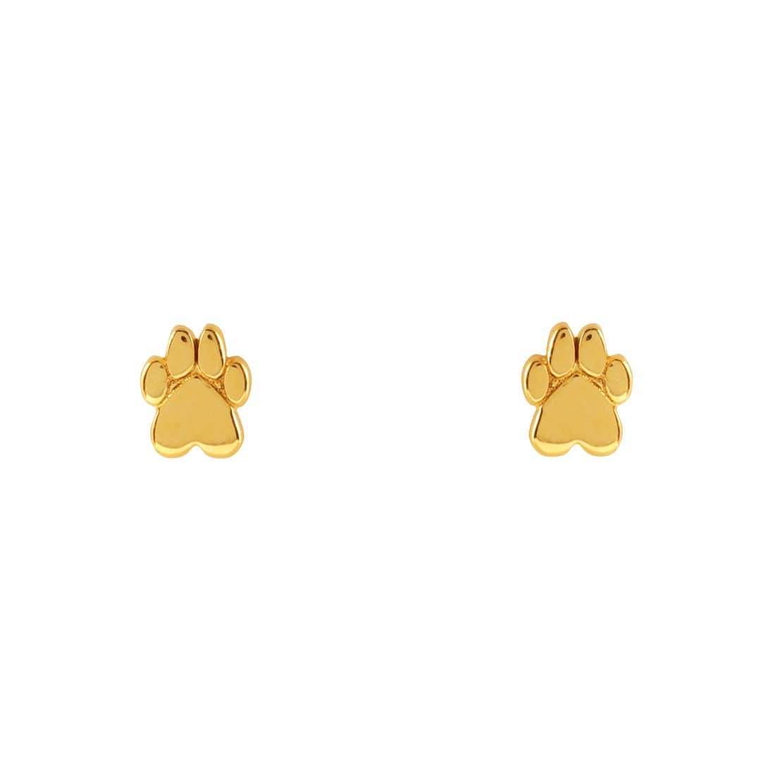 Midsummer Star Earrings Gold Cub Paw Studs