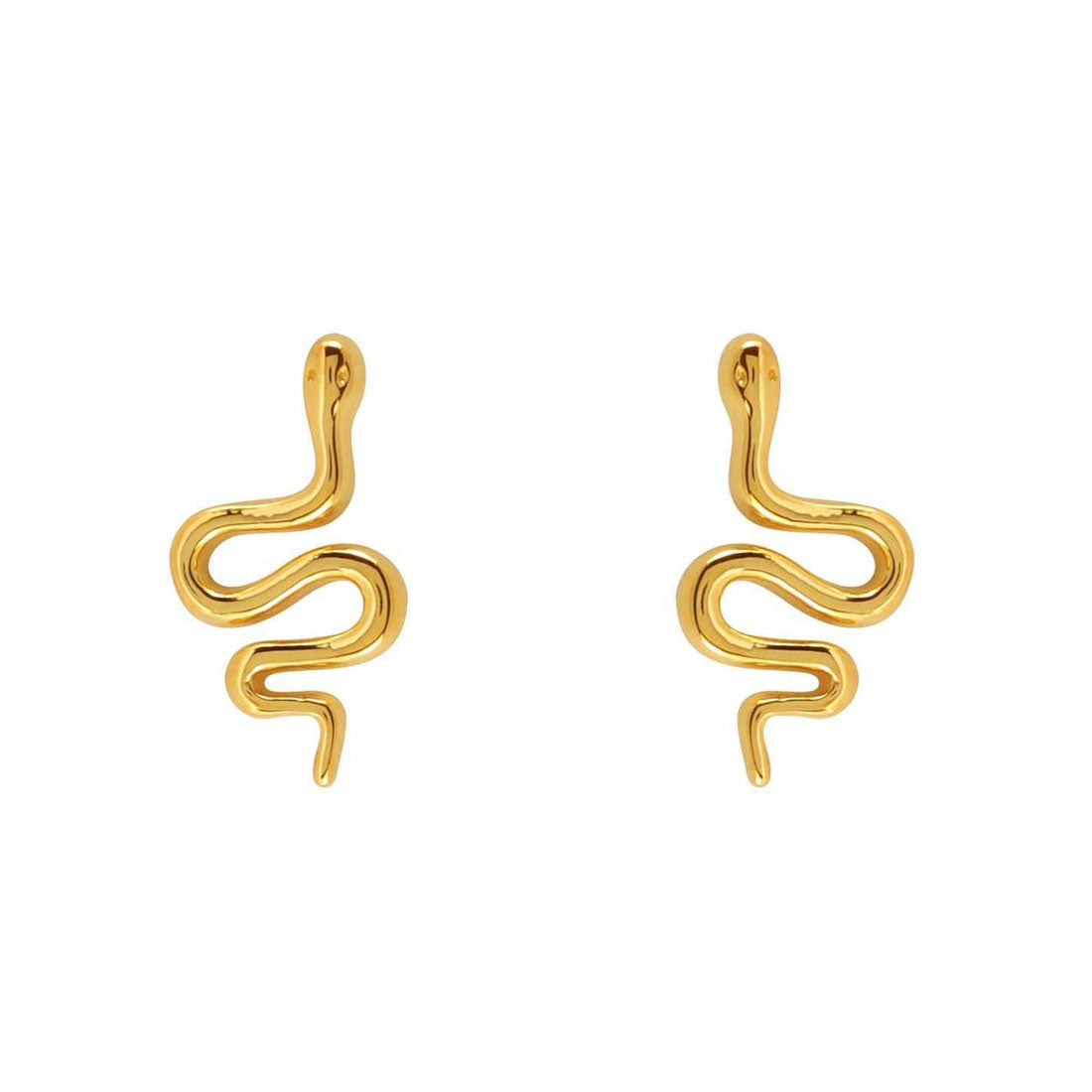 Gold Green Tree Snake Studs