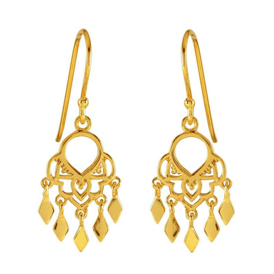 Midsummer Star Earrings Gold Jaipur Earrings