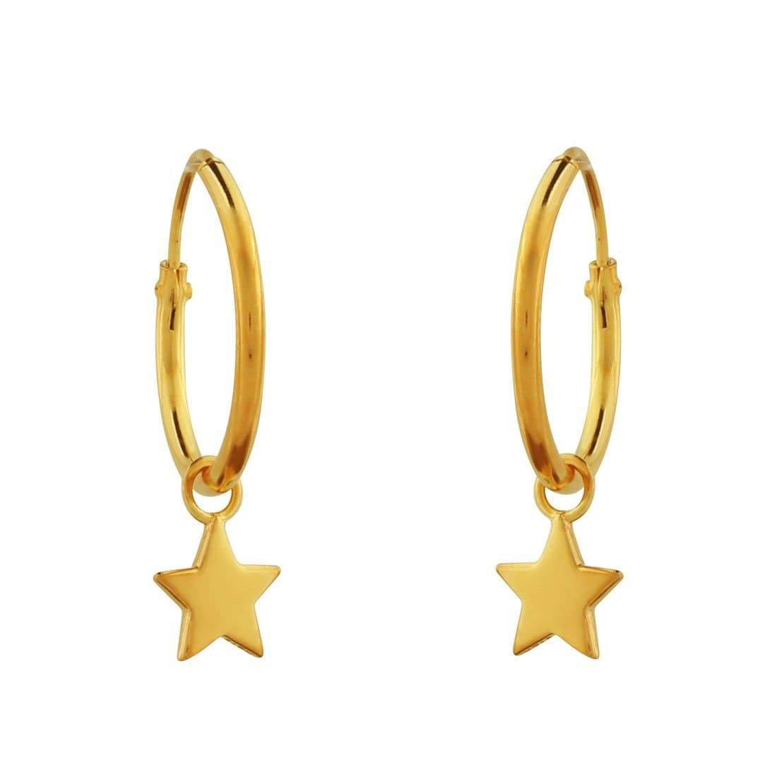 Midsummer Star Earrings Gold Star Light Sleepers