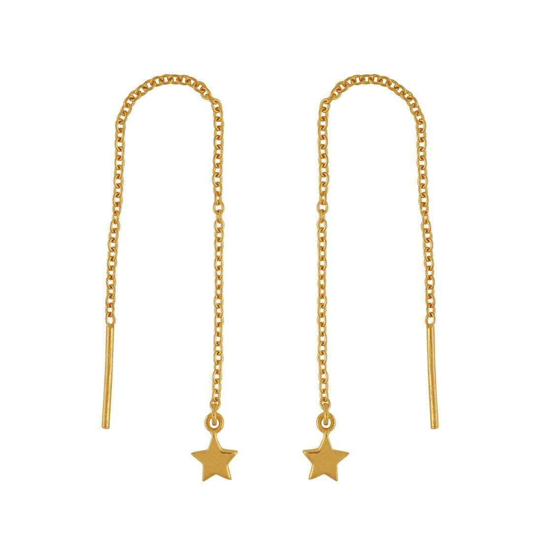 Midsummer Star Earrings Gold Stars Threaders